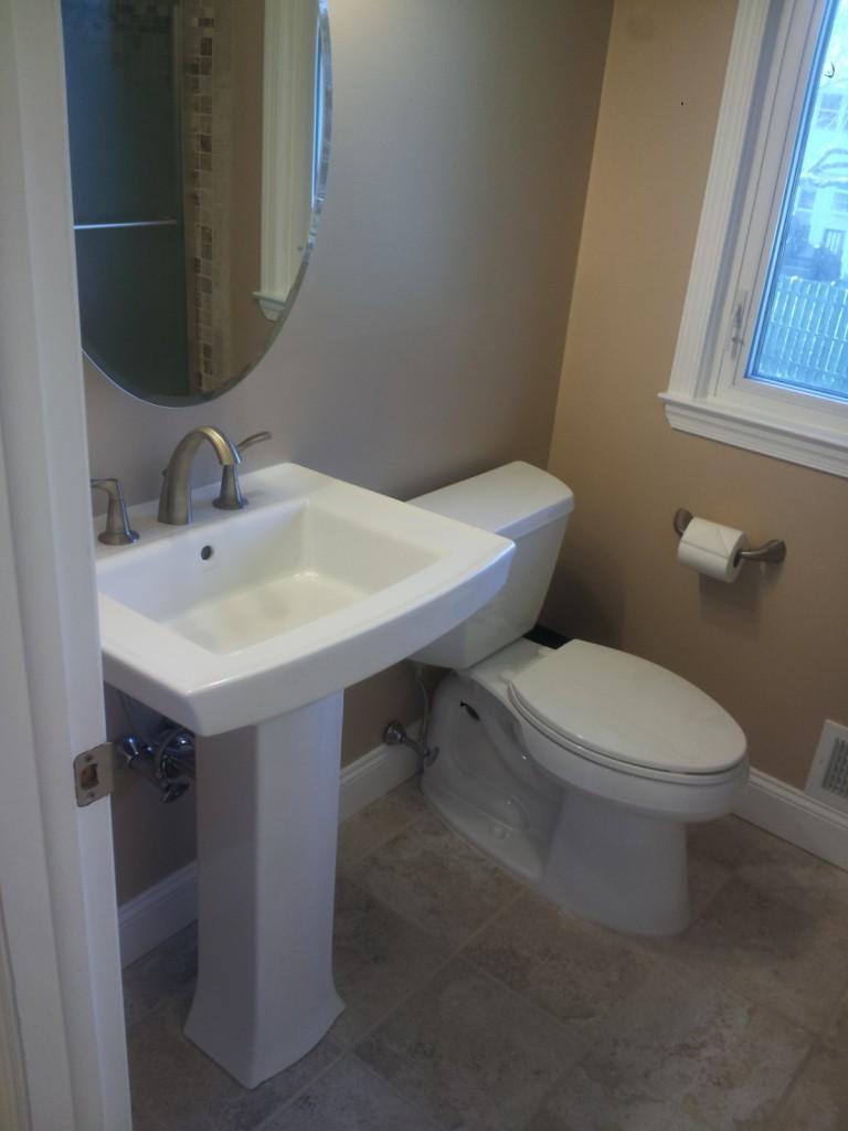 Bathroom remodel front to back home improvements for Redo bathroom sink